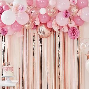 Kit 70 Balões Rosa, Branco e Rosa Gold