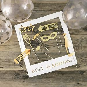Kit Adereços Photobooth Melhor Casamento