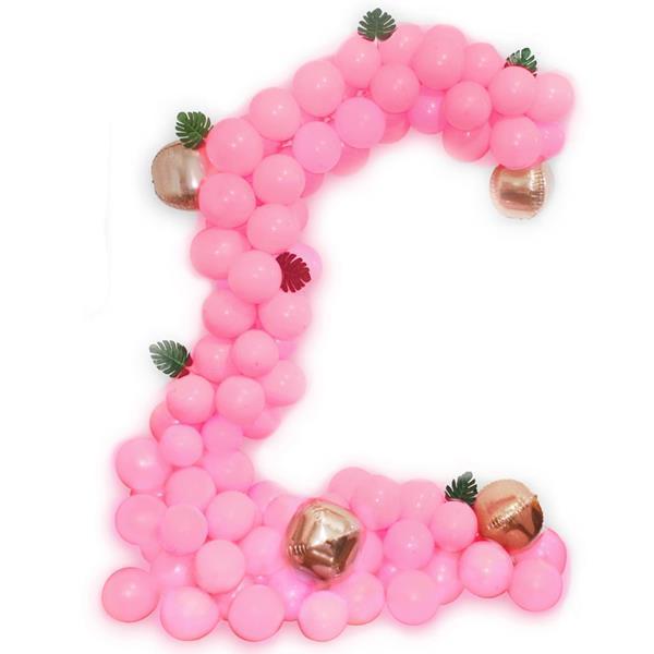 Kit Arco 120 Balões Rosa