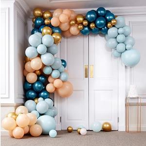 Kit Arco 200 Balões Cromados e Pastel