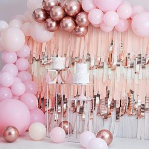 Kit Arco 200 Balões Rosa Pastel e Rosa Gold
