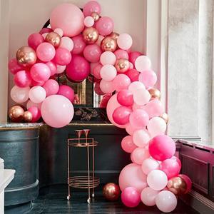 Kit Arco 200 Balões Tons Rosa