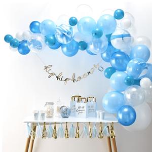 Kit Arco 70 Balões Azul
