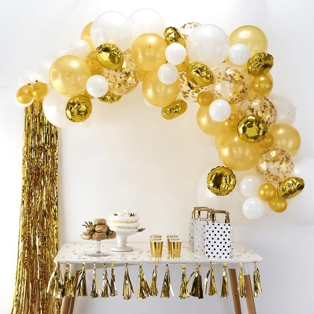 Kit Arco 70 Balões Dourado