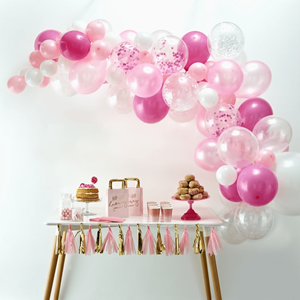 Kit Arco 70 Balões Rosa