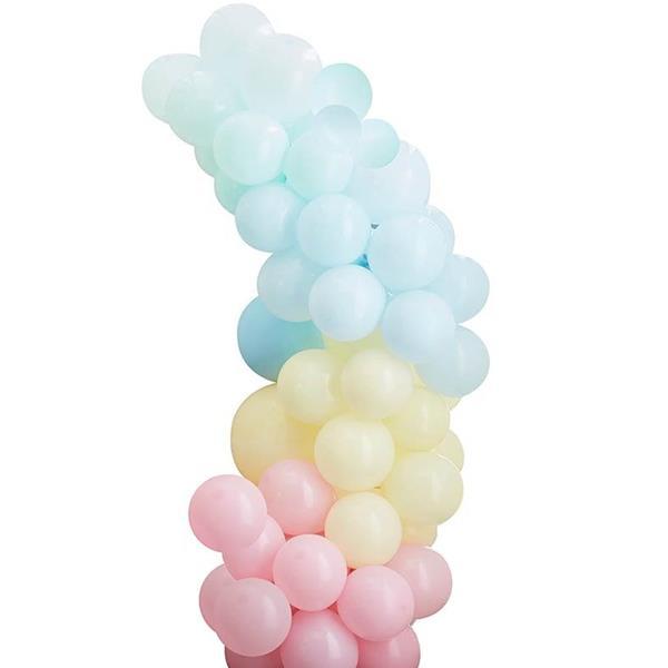 Kit Arco 75 Balões Pastel