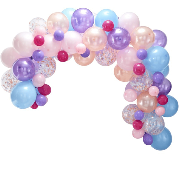 Kit Arco 80 Balões Pastel
