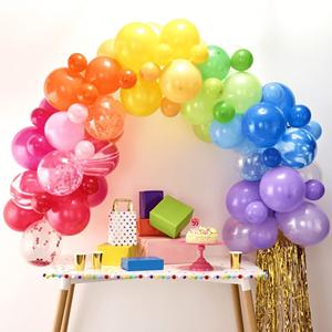 Kit Arco 85 Balões Arco-Íris