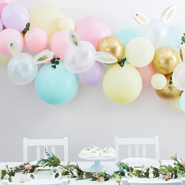 Kit Arco de Balões Pastel Páscoa