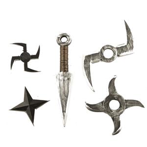 Kit Armas para Guerreiro Ninja, 5 unid.