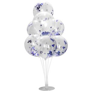 Kit Bouquet de Balões com Confetis Azul, 100 cm
