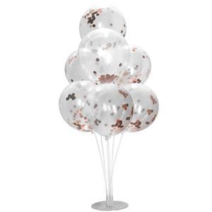 Kit Bouquet de Balões com Confetis Rosa Gold, 100 Cm