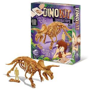 Kit Escavação Dinossauro Fóssil Triceratops