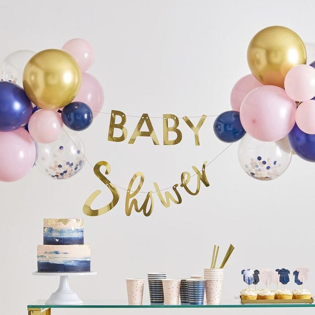 Kit Grinalda Baby Shower com Balões