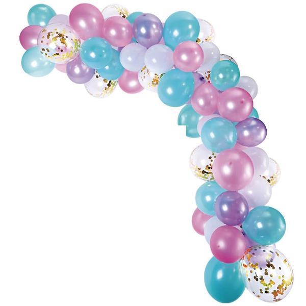 Kit Grinalda Balões Azuis e Rosa