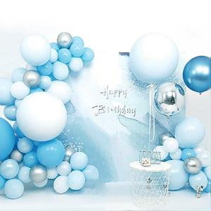 Kit Grinalda Balões Azul e Branco