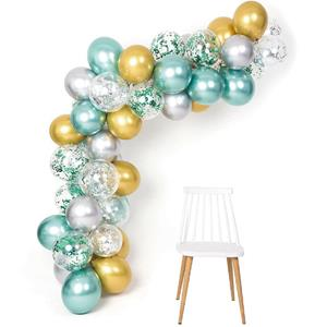 Kit Grinalda Balões Verdes e Dourados