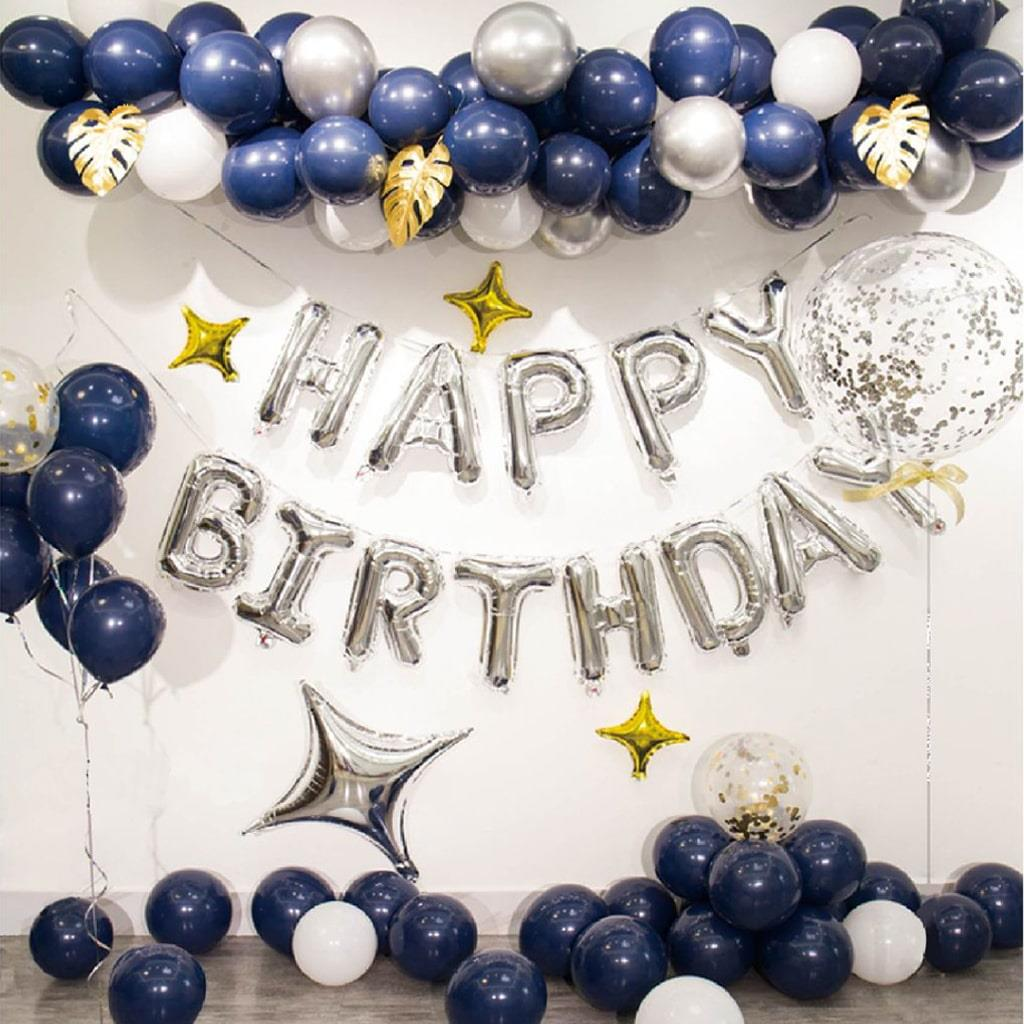 Kit Grinalda com Balões Happy Birthday
