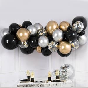 Kit Grinalda com Balões Metalizados e com Confetis