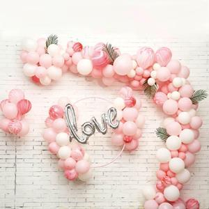 Kit Grinalda Love com Balões Rosa