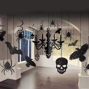 Kit Halloween Decoração Casa Assombrada com Glitter