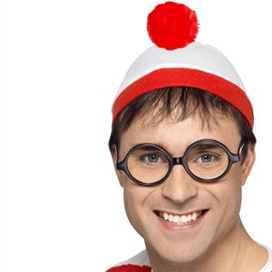 Kit Onde Está o Wally? com Gorro e Óculos