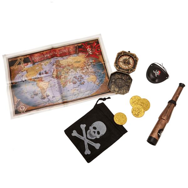 Kit Pirata com Mapa Tesouro