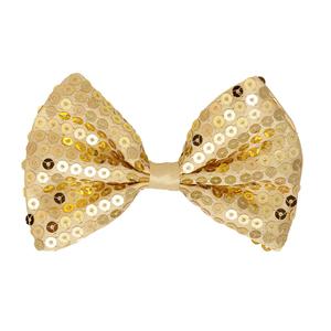Laço Dourado Lantejoulas,12 cm
