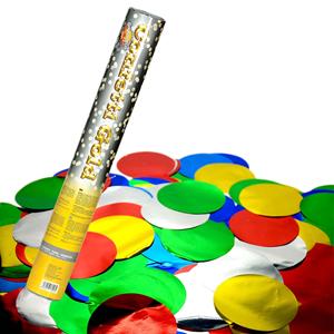 Tubo Lança Confetis Metalizado Redondo Multicor