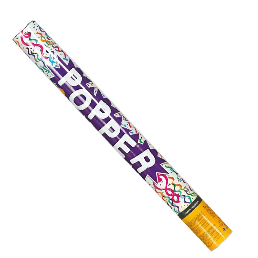 Tubo Lança Confetis multicolor, 80 cm
