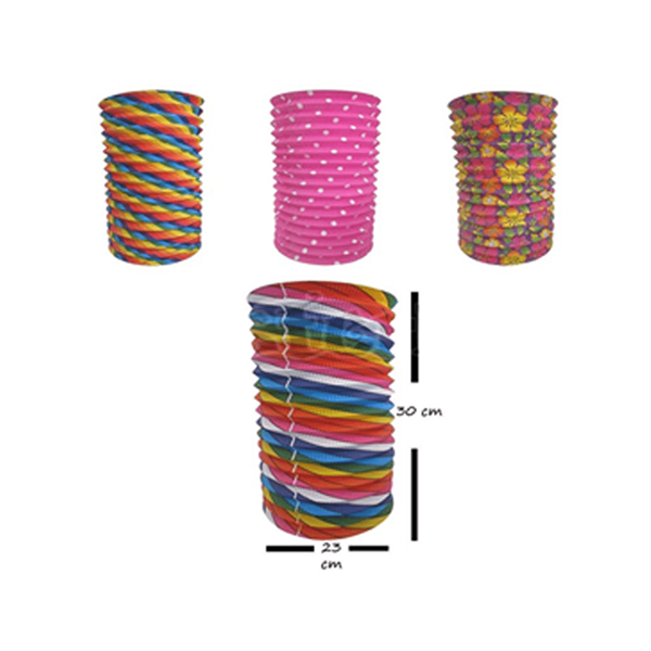 Lanterna Papel Colorida 23 cm - Festas Populares