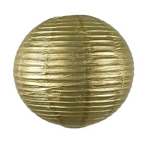 Lanterna Papel Dourada 35cm