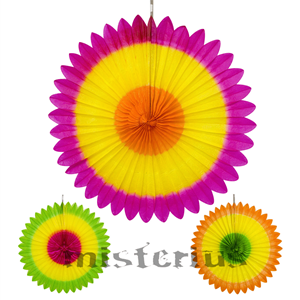 Leque Decorativo Tricolor Sortido, 50cm