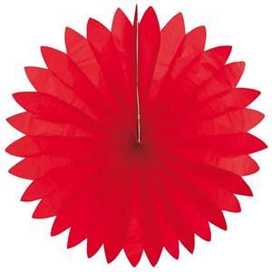 Leque Papel Vermelho, 74 cm