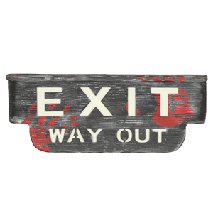 Letreiro Exit com Luz e Som, 48 Cm