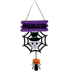 Letreiro Halloween com Teia e Aranha
