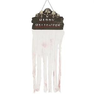 Letreiro Happy Halloween com Cortina, 50 x 130 cm