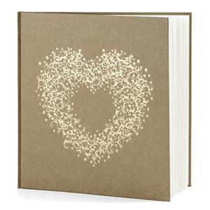 Livro de Assinaturas Castanho com Coração