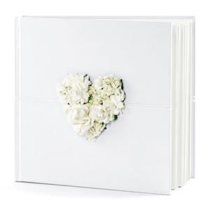 Livro de Assinaturas Coração com Flores