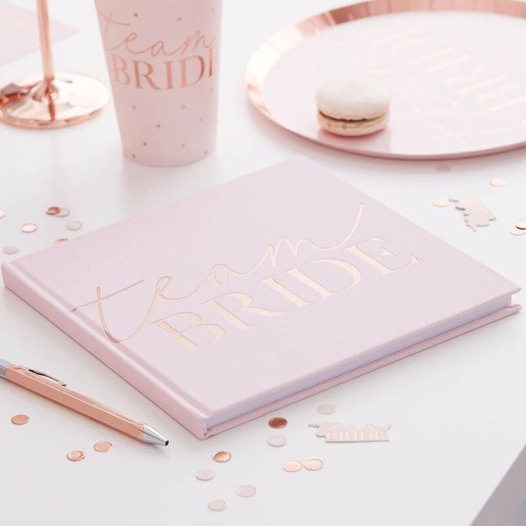 Livro de Assinaturas Team Bride Rosa