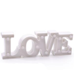 Love Branco Decorativo com Luz, 29 cm
