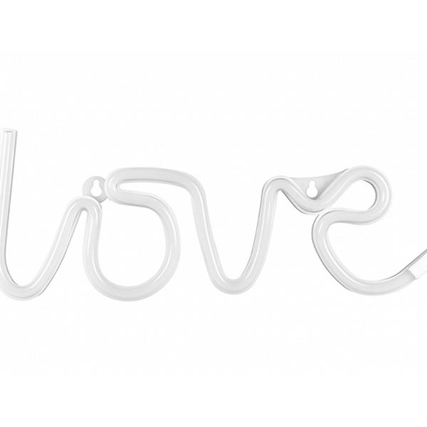 Love Branco Decorativo com Luz, 35 Cm
