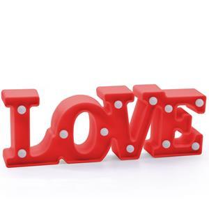 Love Vermelho Decorativo com Luz, 29 cm