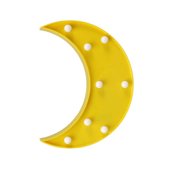 Lua Amarela Decorativa com Luz, 24 Cm