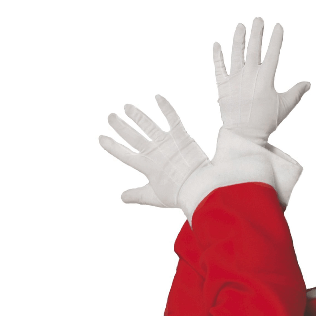 Luvas Brancas Pai Natal com Relevo