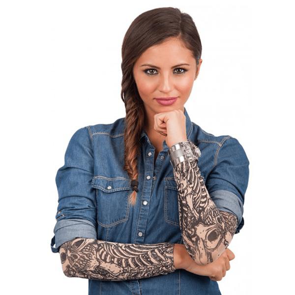 Mangas com Tatuagem de Esqueleto