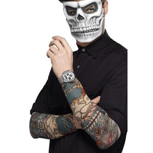 Mangas com Tatuagens Dia dos Mortos
