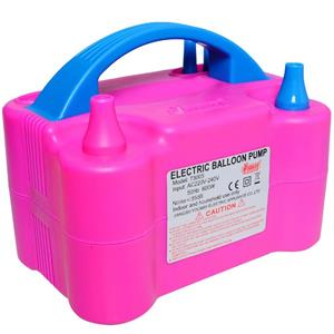 Máquina de Encher Balões Elétrica Rosa