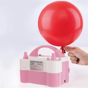 Máquina de Encher Balões Elétrica Rosa Claro