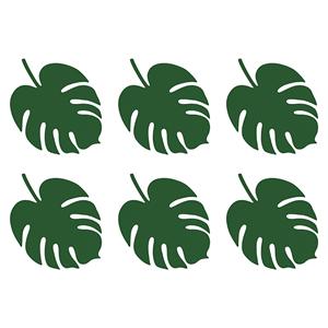 Marcadores de Lugar Folha Aloha, 6 Unid.